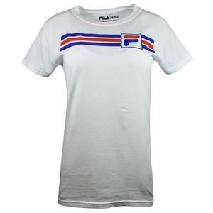 FILA Retro Stripes Logo Tee Shirt